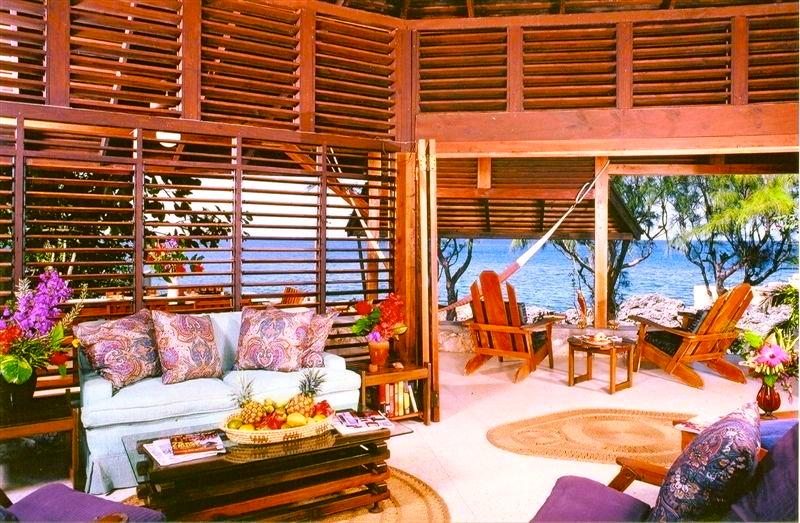 Wild Grape's open living area with stunning Caribbean views! - Stunning & Private Seafront Villa - Negril - rentals