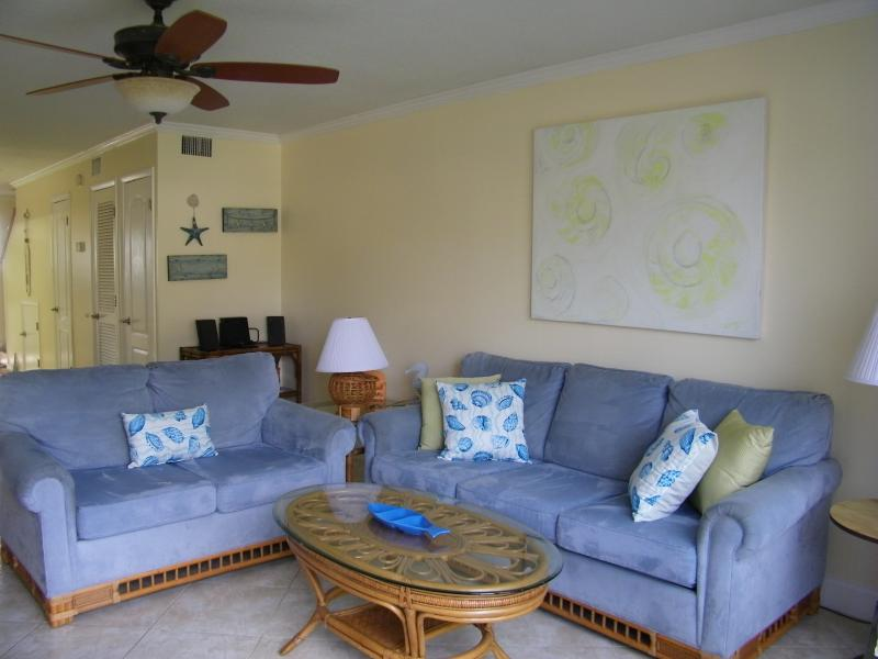 Living Room with Queen Size Sleeper Sofa - 5*Star Ocean Condo-3 NIGHT SPECIAL 10/2-10/5 $498 - Saint Augustine - rentals