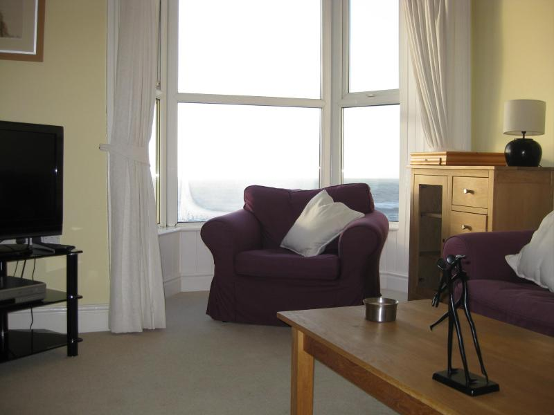 Front of Lounge - Plas Hafan Seaview Apartment - Aberystwyth - rentals