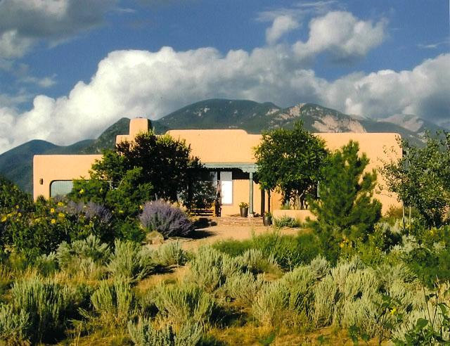 Exquisitely landscaped grounds.  Adobe wall fully enclosed yard offers total privacy with sweeping mountain views - Adobe Abode - Taos - rentals