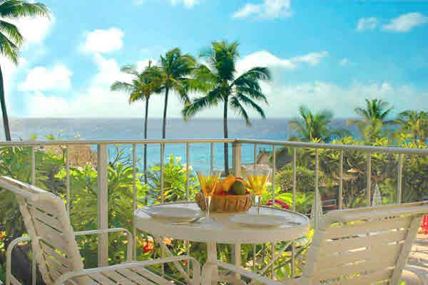 lanai with table and chairs - full ocean view, easy walk, Poipu Beach -no extras - Poipu - rentals