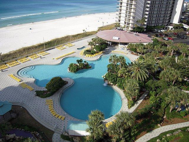 This is your view! Tower 1 view overlooks lagoon pool and gulf - Edgewater Deluxe 3bd 3 ba on beach Panama City Bch - Panama City Beach - rentals