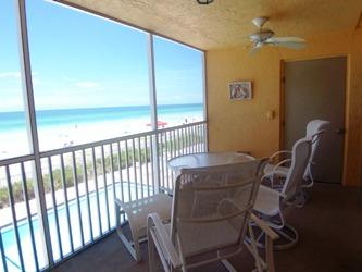 screened gulf front lanai - Gulf View Unit 101 - Holmes Beach - rentals