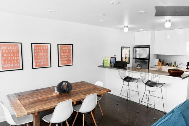 Modern furniture, open floor plan, bright and sunny and well appointed. - Modern Hip, High End, Newly constructed One Bdrm - San Francisco - rentals