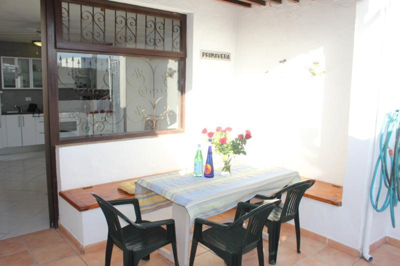 Terrace - sunny from morning til afternoon - Bungalow Primavera - 100 mtrs from sandy beach - Puerto Del Carmen - rentals
