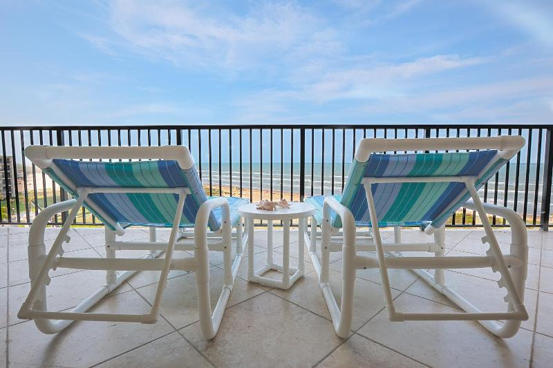Imagine relaxing on our Beachfront Balcony while enjoying beautiful ocean views. - Remodeled Luxurious Condo with Awesome Beach Views - South Padre Island - rentals