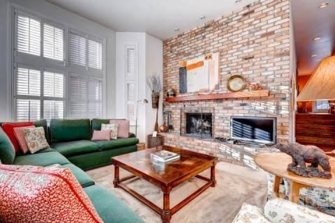 Cozy and inviting living area with flat screen TV and wood burning fireplace. - Deer Valley Drive Ski Home - Park City - rentals