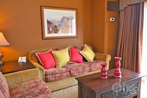 Living room sofa folds out to a queen size bed. - Westgate 1 Bedroom Suite Solace - Park City - rentals
