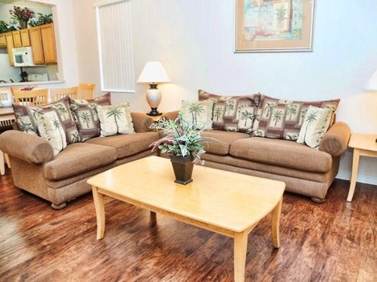 Living Area - RP4T744LMS 4 BR Cozy Town Home Close to Theme Parks - Davenport - rentals
