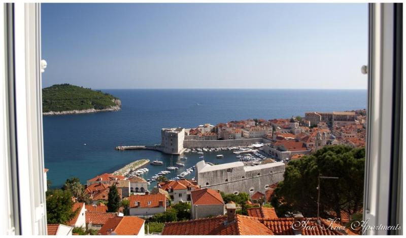 View from the apartman - 2 bedroom, Apartment Ana; ocean view; sleeps 4 - Dubrovnik - rentals