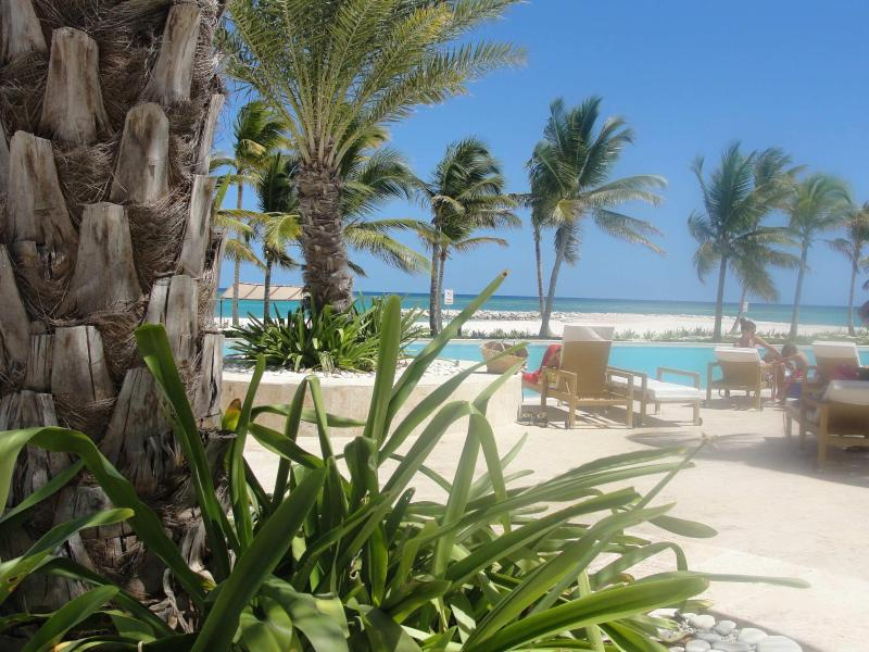 AQUAMARINA OUTSIDE POOL AREA  AND  FRONT VIEW  - CapCana - Punta Cana  New Posted 5** 2B Oceanfront - Punta Cana - rentals