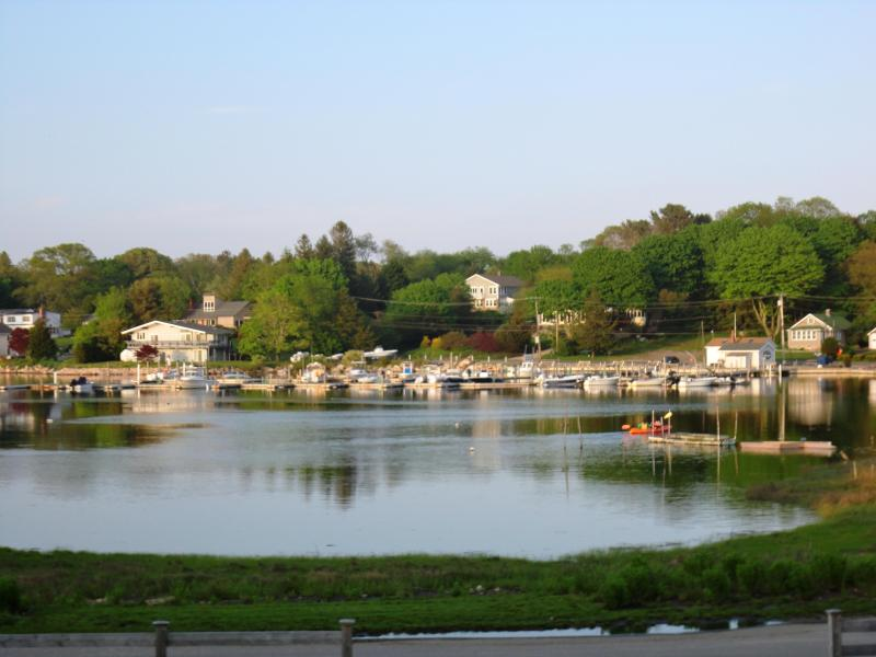 View from balcony on the second floor. - Masons Island-Beautiful Ocean View-Boat Swim Dock - Mystic - rentals