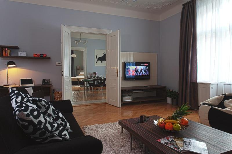 Living room - Brehova 3bedroom apartment, heart of Old Town - Prague - rentals