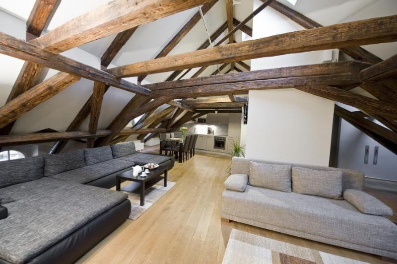 Spacious 160 sqm 3 Bedroom Loft Apartment With A/C - Image 1 - Prague - rentals