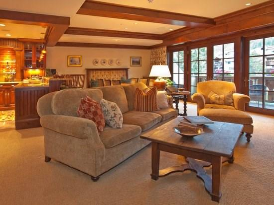 Great room with fireplace, flat screen TV, balcony with mountain views - One Willow Bridge 2 bedroom in Vail Village`s most exclusive residence club - Vail - rentals