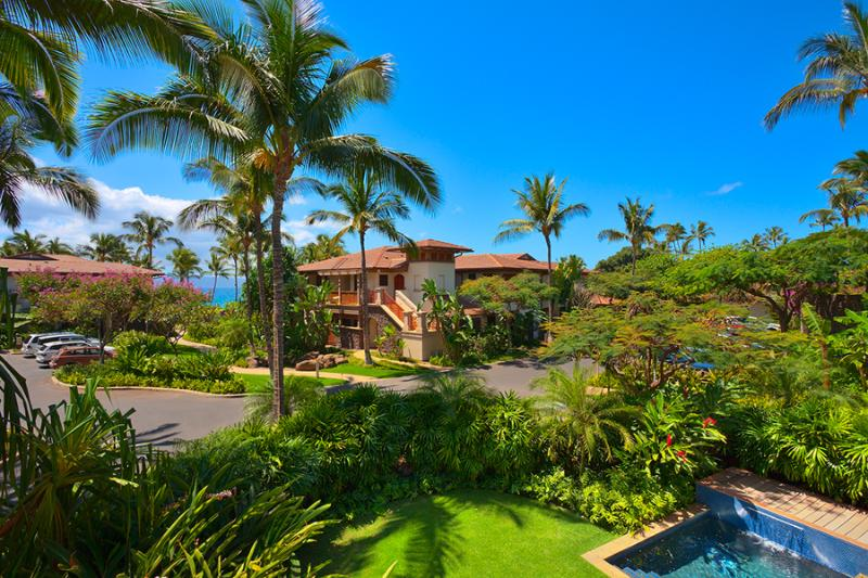 Partial Ocean Views - This Is Your View From C201 Castaway Cove - Castaway Cove C201 at Wailea Beach Villas - Wailea - rentals