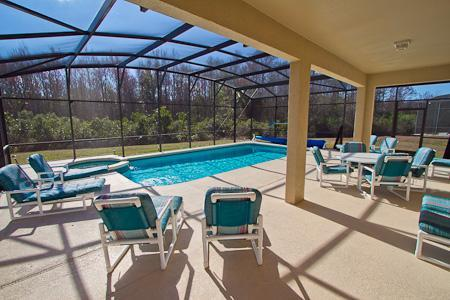 Huge Private Southfacing Pool and Spa - 7 beds family friendly large private pool and spa - Kissimmee - rentals