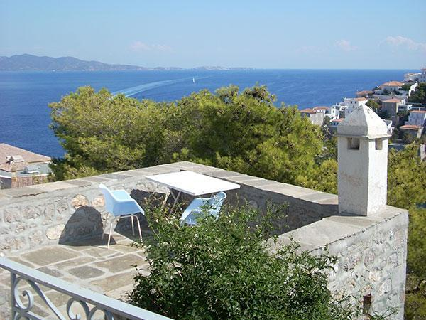 Our Terrace - 3 Bdrm Historic Stone Home on Hydra - Amazing View - Hydra - rentals