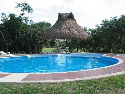 View of the Pool - Villas Kaan Townhouse - Puerto Aventuras - rentals