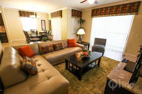 Comfortable living area - 8917 Paradise Palms - Kissimmee - rentals