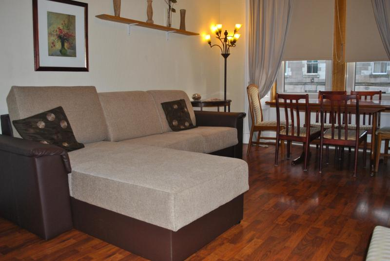 LIVING ROOM WHIT DOUBLE SOFA BED - 2 BEDROOM APARTMENT GROUND FLOOR+3 BEDROOM APARTMENT 1ST FLOOR - Edinburgh - rentals