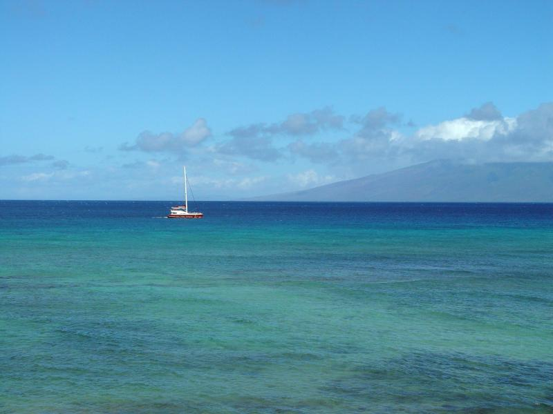 Enjoy this View From Living Area - Lokelani 2 Bedroom Ocean Front Condo, West Maui - Lahaina - rentals