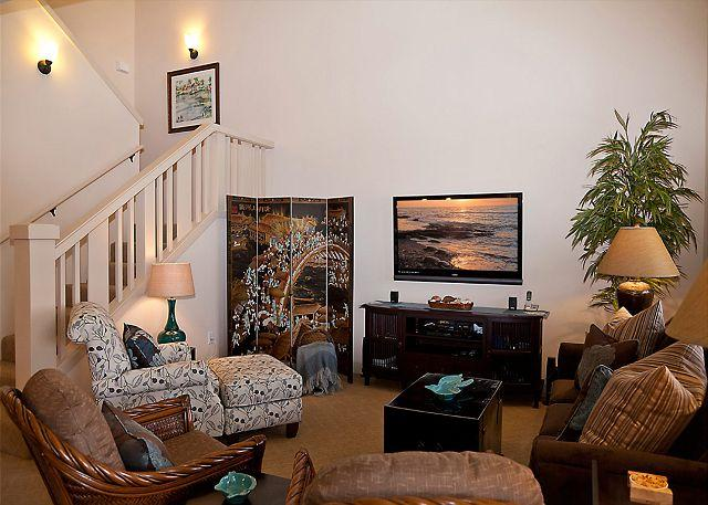 Luxorious Living Area - SUMMER SPECIAL 7th NIGHT FREE-Stunning 3BR Townhome! Professionally Decorated - Waikoloa - rentals