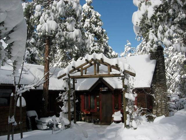 Snow- Winter wonderland in our cabin - Fern Valley Retreat, Views of Lily Rock - Idyllwild - rentals
