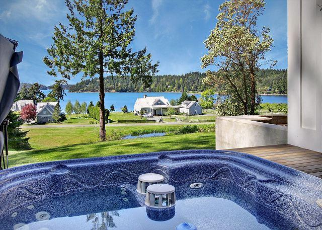 Relax in the hot tub and take in the views of Westcott Bay - Westcott Bay Vista - Friday Harbor - rentals