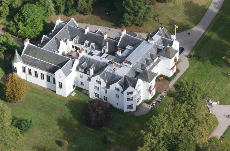 Aerial photo of Achnagairn House - Achnagairn: 24 bed Mansion in glorious Highlands - Inverness - rentals