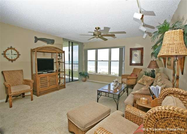 The Atlantic Ocean is just yards away from this condo! - Sand Dollar II 207 BeachFront 3 Bedroom with Pool, St Augustine - Saint Augustine Beach - rentals