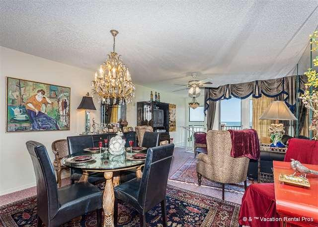Our luxury living room has beautiful ocean views - SpyGlass 41 on Crescent Beach in St Augustine Florida - Saint Augustine Beach - rentals