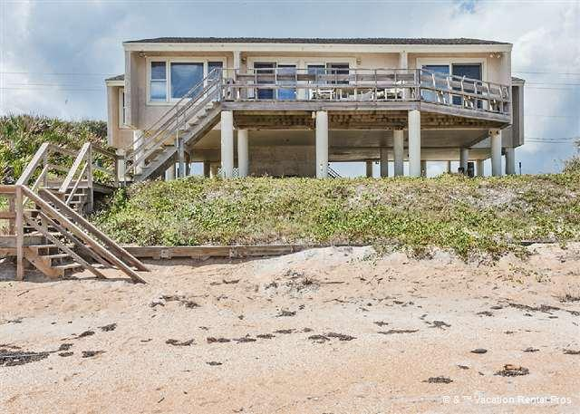 Picture yourself standing on the deck of White Heron Beach House - White Heron, 4 Bedrooms, Ocean Front, Ponte Vedra Beach - Saint Augustine - rentals