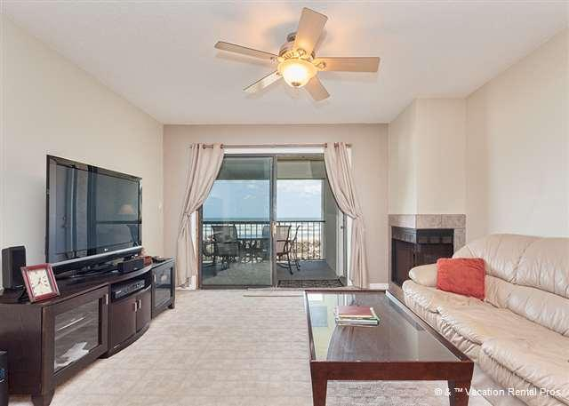 Relax and enjoy our open luxury living room - Island South 11, Ocean Front, HDTV, Wifi, Penthouse 3rd Floor - Saint Augustine Beach - rentals