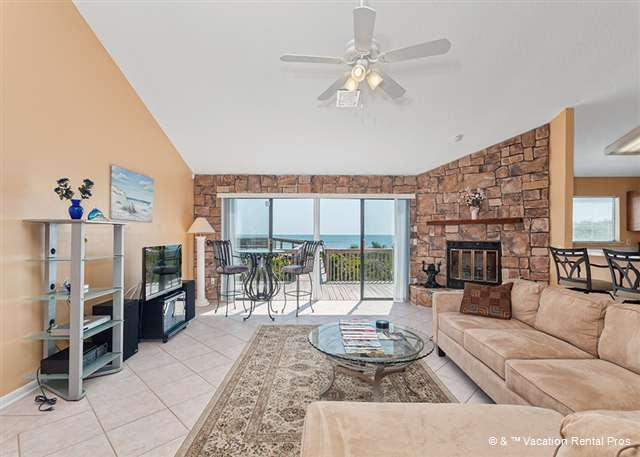 Our living room is THE place to gather at Sun Dancer house! - Sun Dancer Beach House, 2 Bedroom BeachFront, Ponte Vedra - Ponte Vedra Beach - rentals