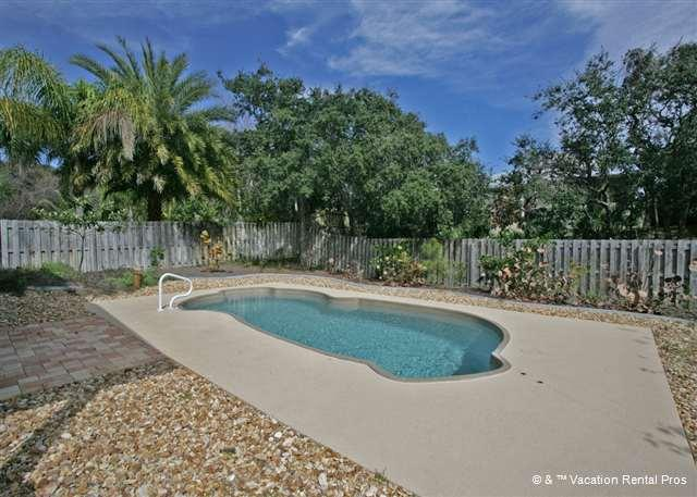Take a dip in our private salt water pool - Fan-ta-sea Beach House with HDTV & Private Heated Pool - Saint Augustine Beach - rentals