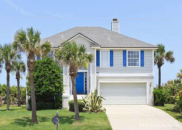 Harmony House is direct beach front with private walkway - Harmony Beach House, Beach Front, New HDTV - Palm Coast - rentals