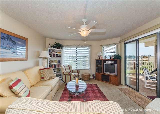 The balcony brings the view indoors at Colony Reef 1411! - Colony Reef 1411, 4th Floor, 3 Bedrooms, Heated Pool, Beach - Saint Augustine Beach - rentals