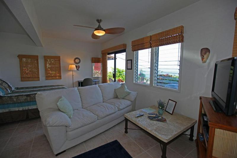"Living area - ""DELUXE STUDIO"" King Bed, Ocean view, Hot Tub - Keauhou - rentals"