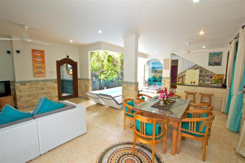 downstairs living area - Largest Villa in Kuta Royal,  C1 -Turquoise - Kuta - rentals