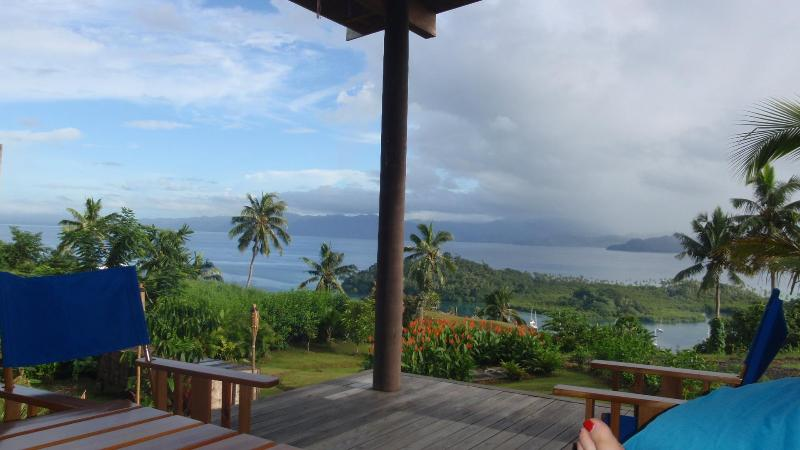 View of the the Savusavu Harbour from the deck - Architectural container living - Amazing views! - Savusavu - rentals