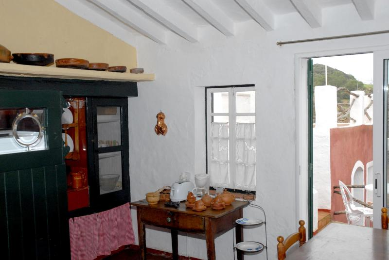 Dining room-kitchen - Traditional townhouse in Menorca - Ferreries - rentals