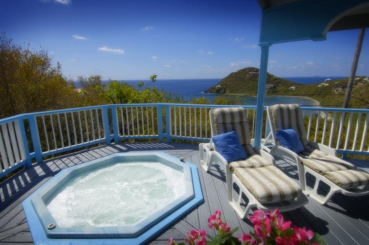 Outdoor Hot Tub - Aug-Oct Discount-Villa Moonsong Sunset Views, Spa - Saint John - rentals