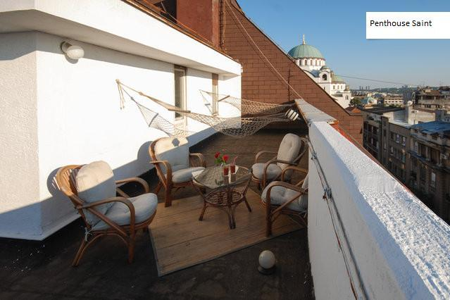 Sunset patio - Luxus penthouse for 5 in CityCenter - roof teracce - Belgrade - rentals