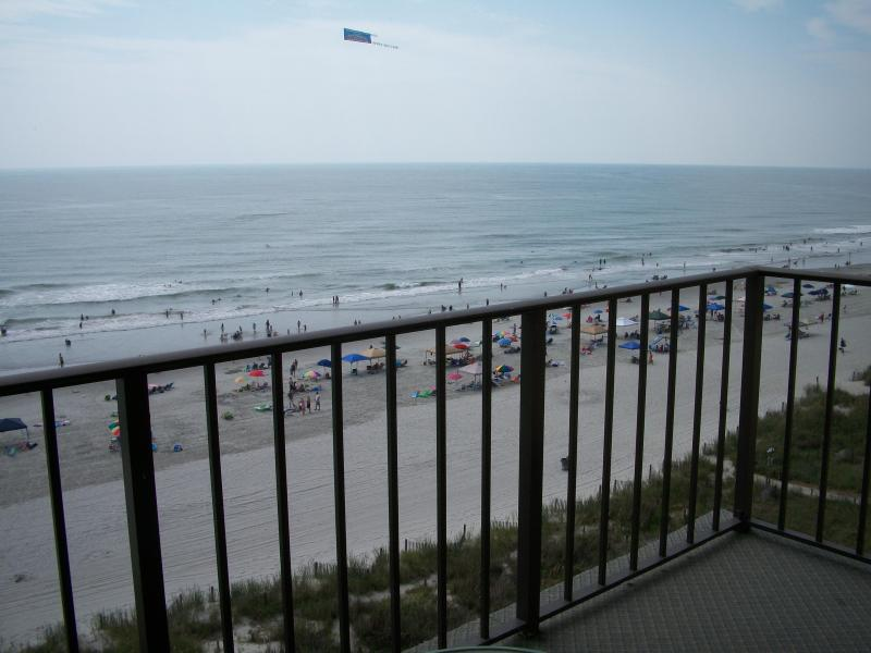 balcony - ocean front condo with the greatest ocean view - North Myrtle Beach - rentals
