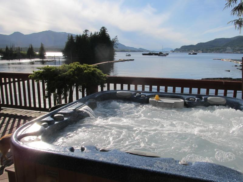 View from the tub. - Self guided fishing! Waterfront, boat, dock, spa. - Ketchikan - rentals