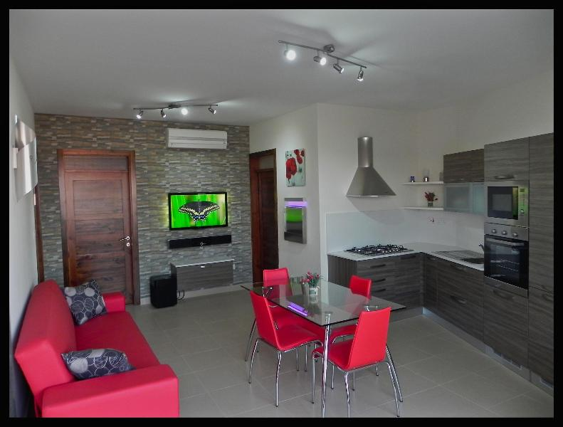 Kitchen/Living - Marsascala Luxury  2 Bedroom Penthouse 5 Min Away From Centre And Beach! - Marsascala - rentals