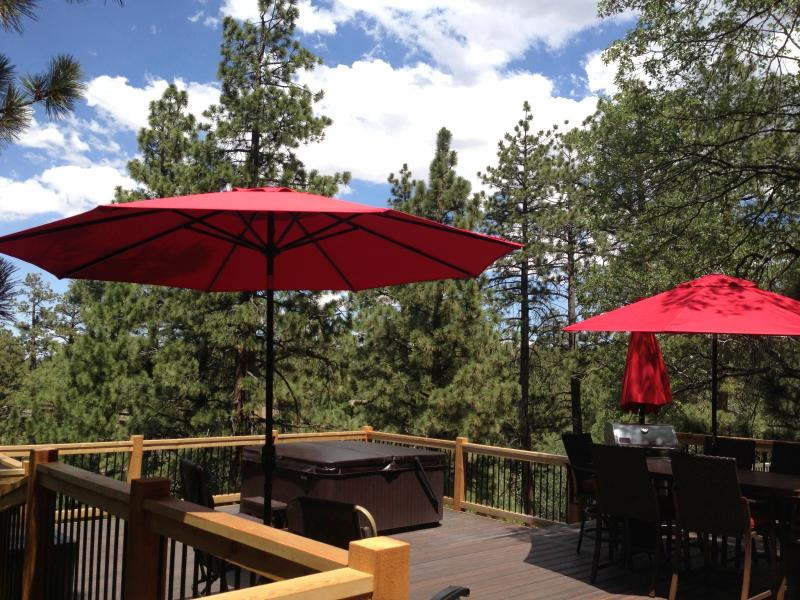 A tranquil mountain retreat! - TREETOP DECK **Hot Tub** Secluded Forest Setting - Big Bear City - rentals