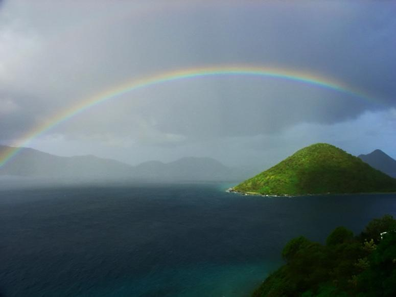 A Rainbow Sunset in the Virigin Islands - 4Bdrm Luxury Villa wh 360 Views in St. John, USVI! - Cruz Bay - rentals