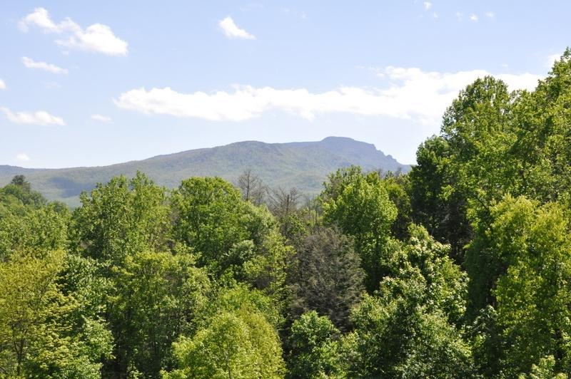 Beautiful Grandfather Mountain view from outdoor deck - Timbers P-2,  condo w/ Grandfather Mountain view - Boone - rentals